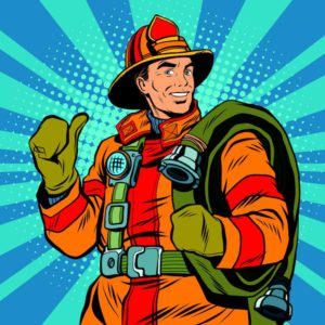 Firefighter's Kids' Games @ Library Park Historic District